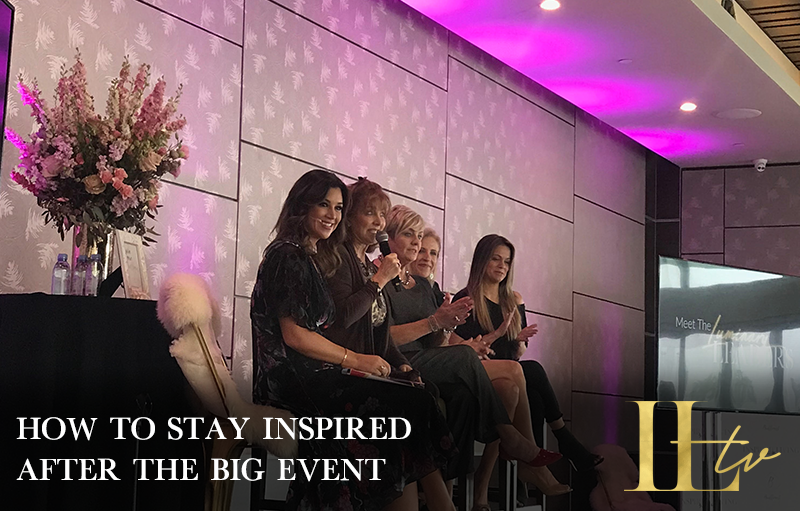 HOW TO STAY INSPIRED AFTER THE BIG EVENT